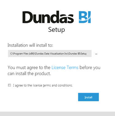 Choose the installation folder and agree to license terms