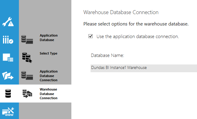 Warehouse Database Connection