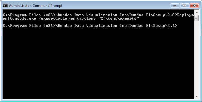 The Deployment Console create export files.