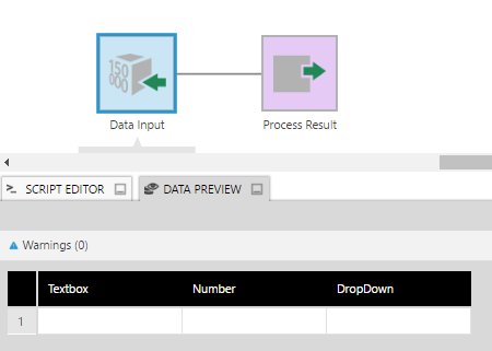 Create a data input data cube