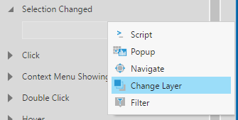 Adding a ChangeLayer Interaction to the Selection Change action