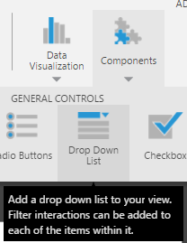 Adding the dropdown list to the dashboard