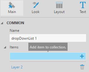 Adding a second item to the dropdown list