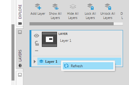 Refresh the layer's list of elements