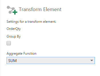 SQL Select transform configuration - Screen 2