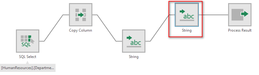 Multiple string transforms