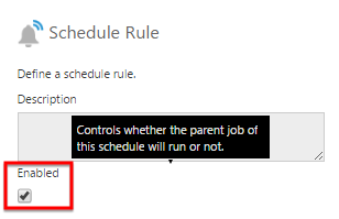 Enable or disable a schedule