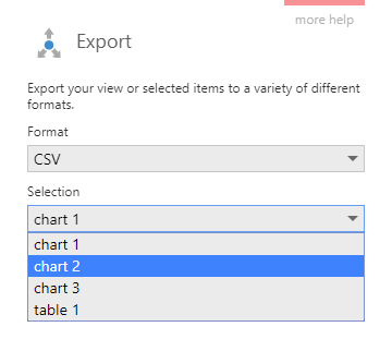 Export to CSV format