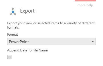 Export a dashboard to PowerPoint format
