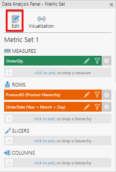 Edit the metric set settings