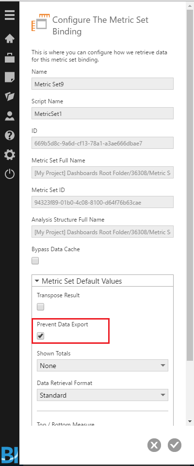Enable the Prevent Data Export option