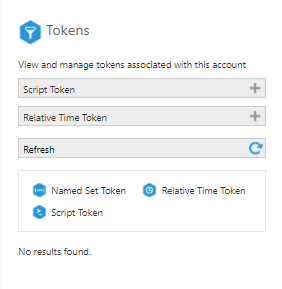 Manage tokens