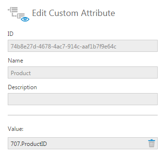 Set the Product custom attribute value to 707.ProductID
