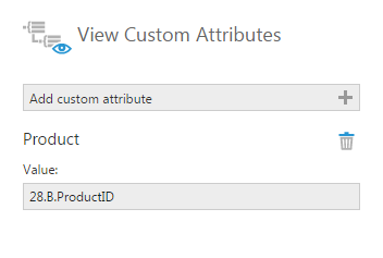 Set the Product custom attribute value to 28.B.ProductID
