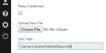 Choose the Access file or specify its network path