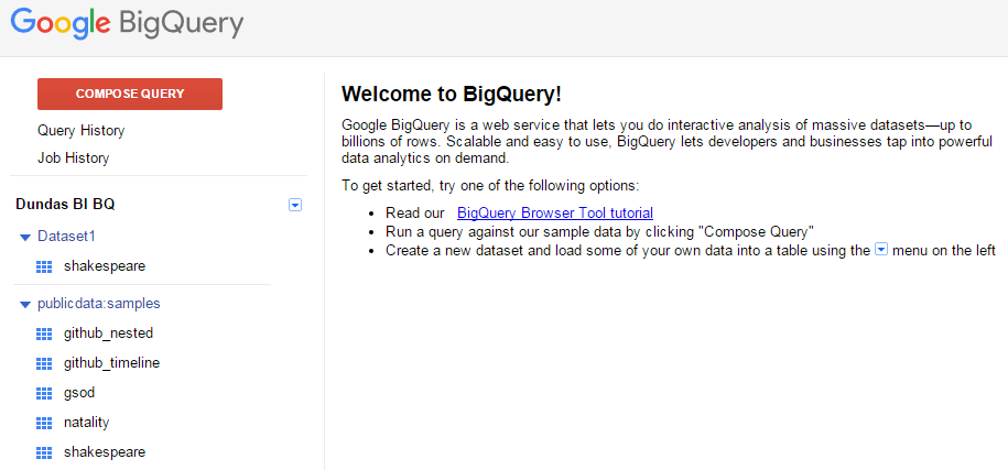 Using Google BigQuery