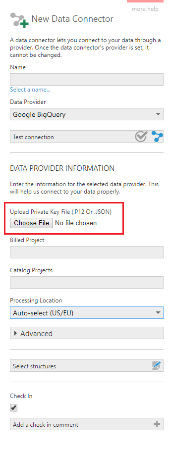 Choose the certificate file