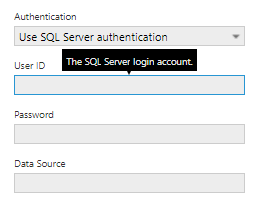 SQL Server authentication method