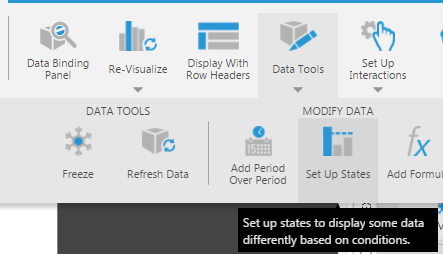 Select Set Up States from Data Tools