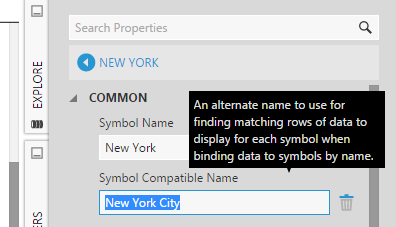 Symbol Compatible Name property for a map symbol