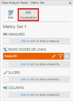 Select Visualization in the Data Analysis Panel