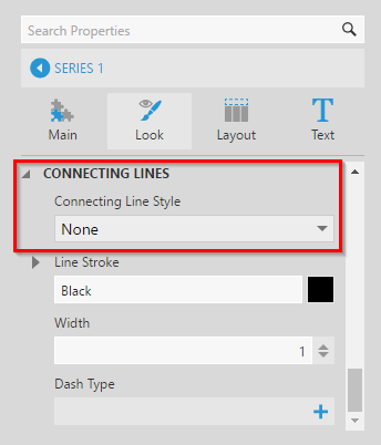 Setting connecting line style