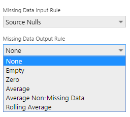 Missing Data Output Rule