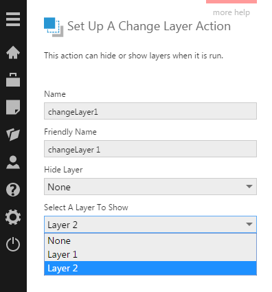 Choose Layer 2 to be shown