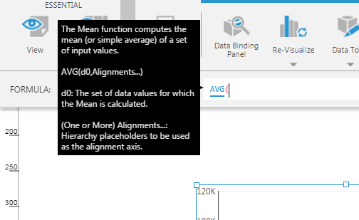 Tooltip for AVG/Mean function