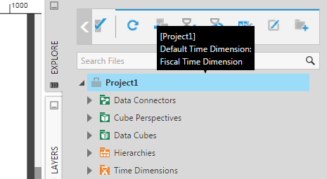 Tooltip shows the new default time dimension