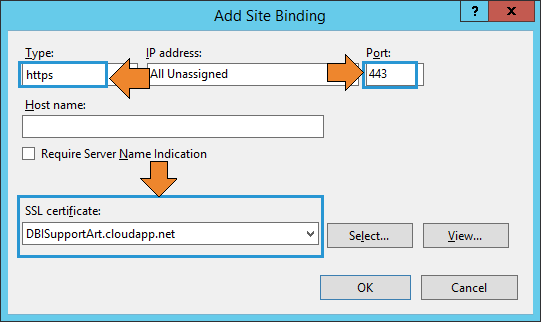 HTTPS binding for Dundas BI.