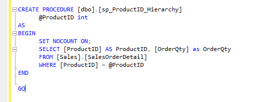 Sample Stored Procedure