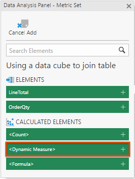 Select Dynamic Measure