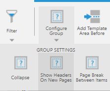 Show headers on new pages